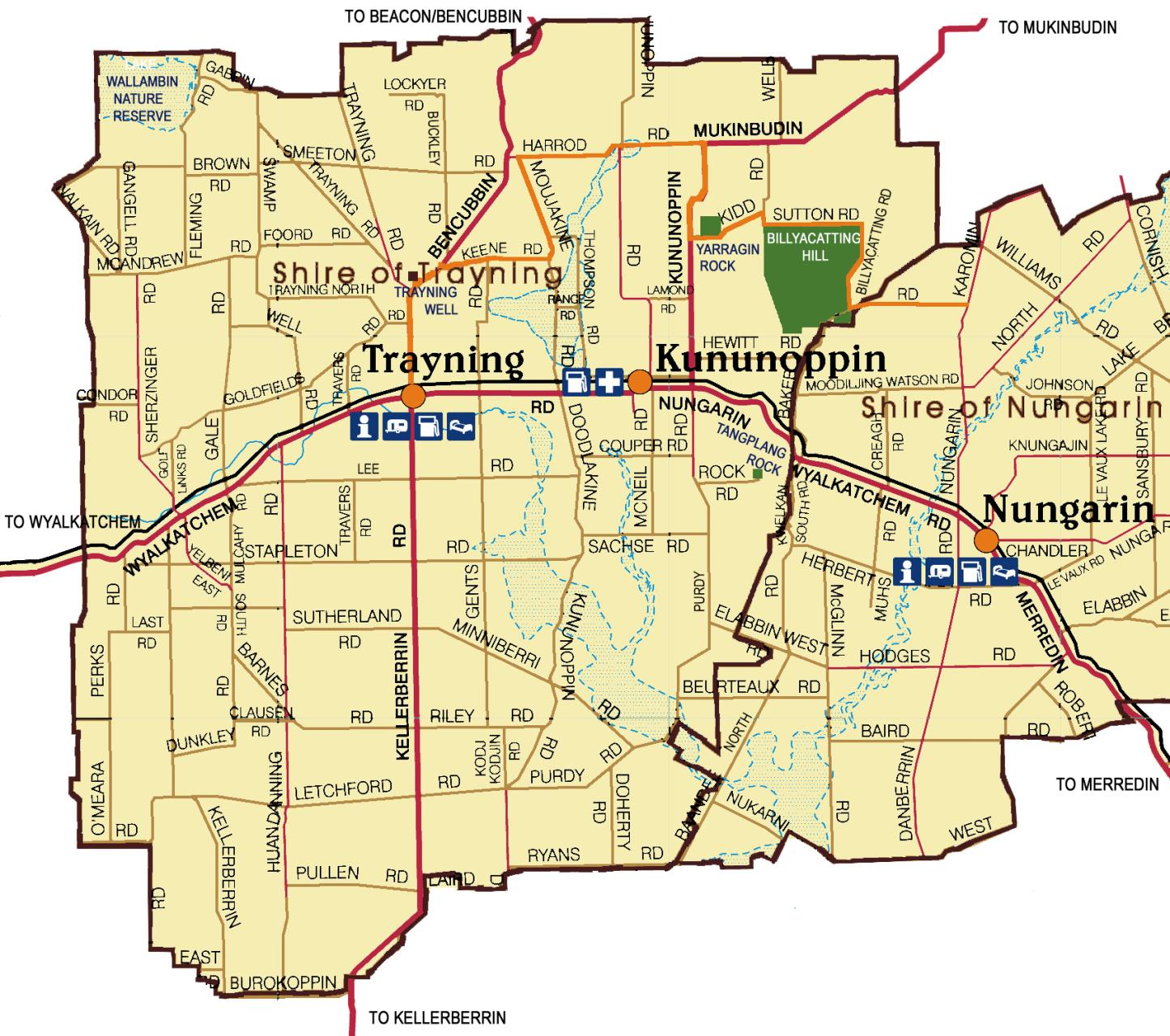 Trayning District Map